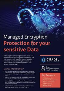 Citadel Managed Encryption Data Sheet Download