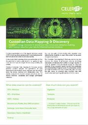 Custodian Data Discovery & Mapping Datasheet