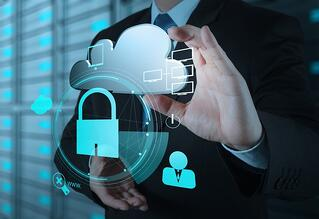 businessman hand show 3d cloud icon with padlock as Internet security online business concept -1.jpeg