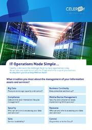 Celerity Managed Services Data Sheet